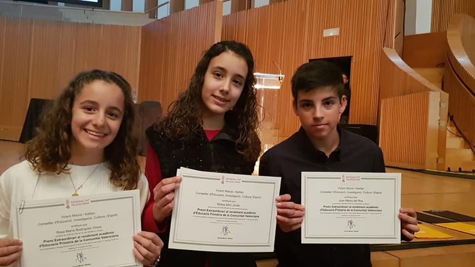 Premios extraordinarios E. Primaria