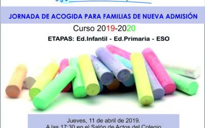 Jornada de acogida para familias de nueva admisión