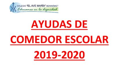 Ayudas de comedor curso 2019-2020