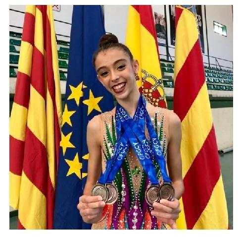 La gimnasta Lucía Muñoz Jaén, subcampeona de España de Gimnasia Rítmica