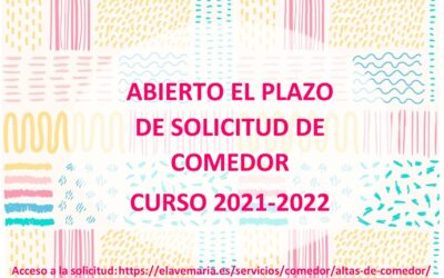 Solicitud de plaza de comedor curso 2021-2022